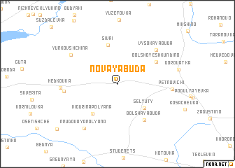 map of Novaya Buda