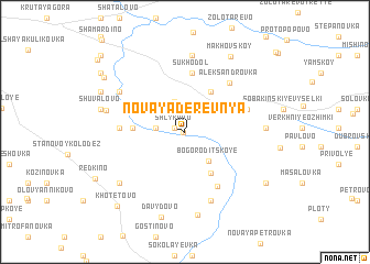 map of Novaya Derevnya