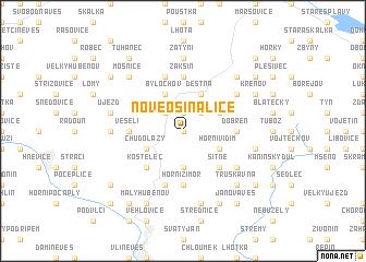 map of Nové Osinalice
