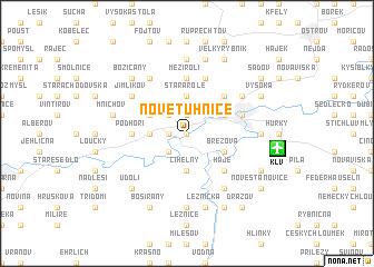 map of Nové Tuhnice