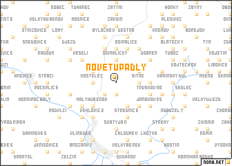 map of Nové Tupadly