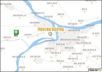 map of Novi Beograd