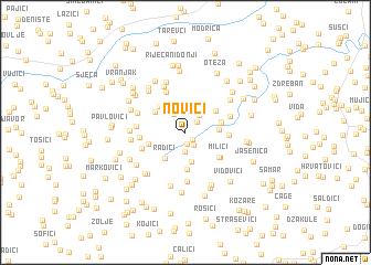 map of Novići