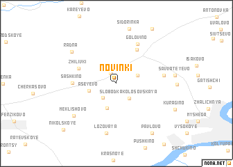 map of Novinki
