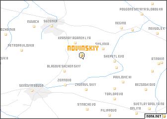map of Novinskiy