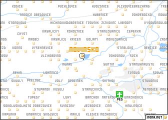 map of Novinsko