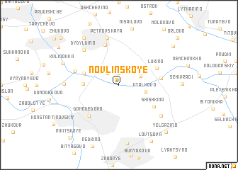 map of Novlinskoye