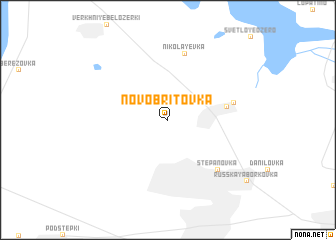 map of Novo-Britovka