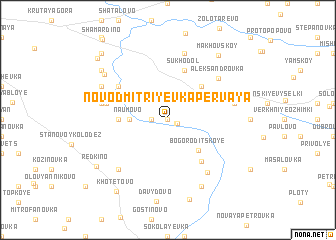 map of Novodmitriyevka Pervaya
