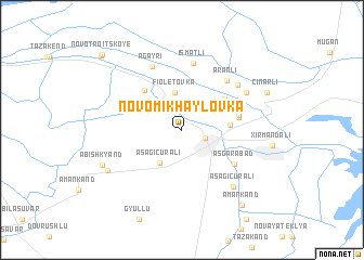 map of Novomikhaylovka