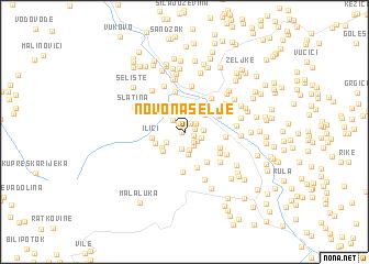 map of Novo Naselje