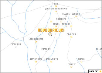 map of Novo Ouricuri