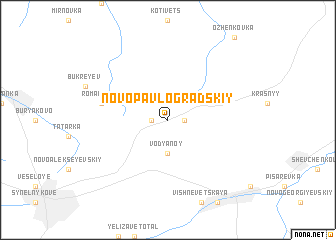 map of Novo-Pavlogradskiy