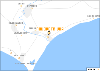 map of Novopetrivka