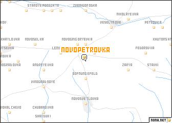 map of Novo-Petrovka