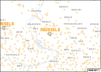 map of Novo Selo
