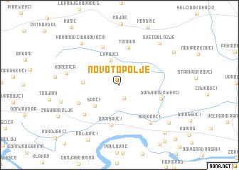 map of Novo Topolje