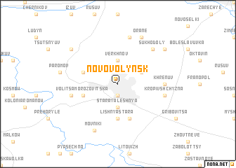 map of Novovolyns'k