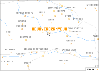 map of Novoye Abram\