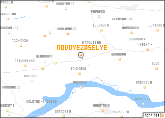 map of Novoye Zasel\