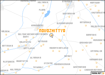 map of (( Novo-Zhittya ))