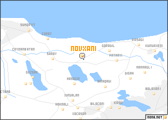 map of Novxanı