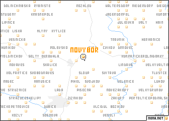 map of Nový Bor