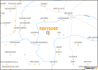 map of Nový Dvor