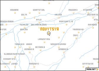 map of Novytsya
