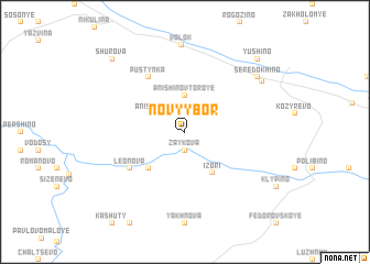 map of Novyy Bor