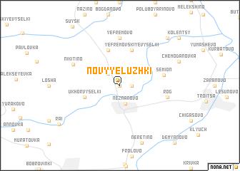 map of Novyye Luzhki