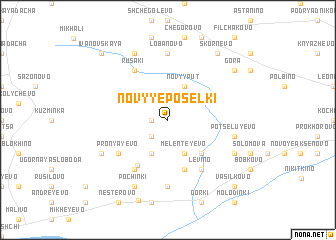map of Novyye Posëlki
