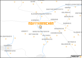 map of Novyy Karachan