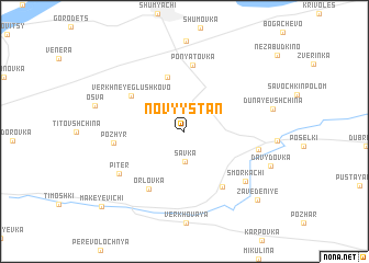 map of Novyy Stan