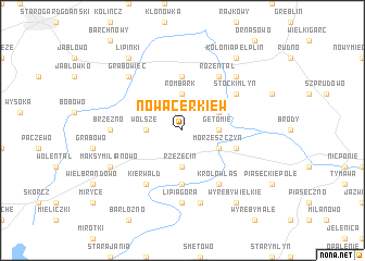 map of Nowa Cerkiew