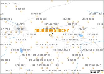 map of Nowa Wieś Dmochy