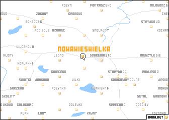 map of Nowa Wieś Wielka