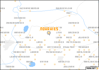 map of Nowa Wieś