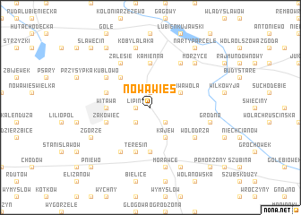 map of Nowa Wieś