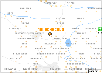 map of Nowe Chechło