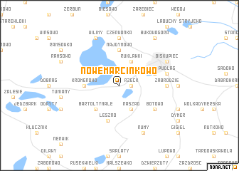 map of Nowe Marcinkowo