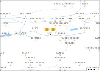map of Nowina