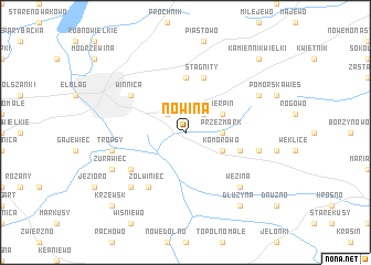map of Nowina