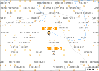 map of Nowinka