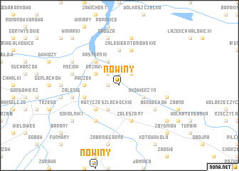 map of Nowiny