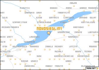 map of Nowosiedliny