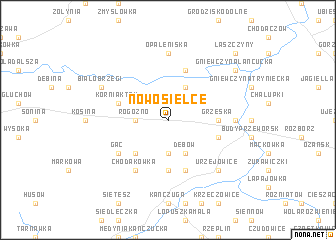 map of Nowosielce