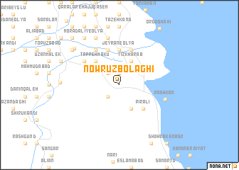 map of Nowrūz Bolāghī