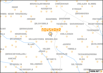 map of Nowshahr