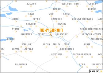 map of Nowy Surmin